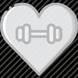 fitness, gym, love, training icon