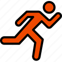 fitness, running, training, work icon