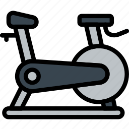 bicycle, fitness, training, work icon