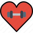 fitness, gym, love, training, work icon