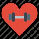 fitness, gym, love, training, work icon