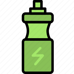 bottle, fitness, training, water, work icon