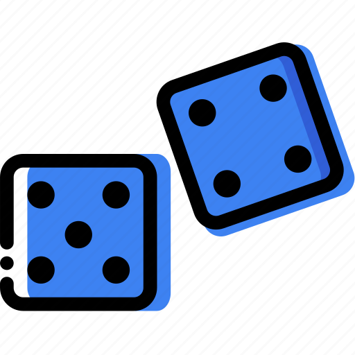 dices, entertain, game, play icon