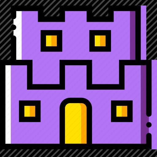 castle, entertain, game, mario, play icon
