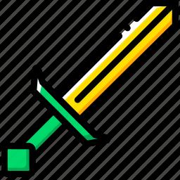entertain, game, minecraft, play, sword icon
