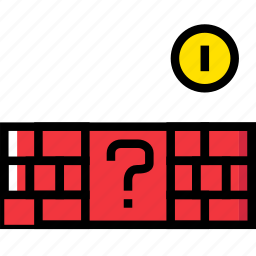 bricks, entertain, game, mario, play icon