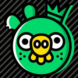 entertain, game, king, pig, play icon