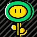 entertain, fireflower, game, mario, play icon