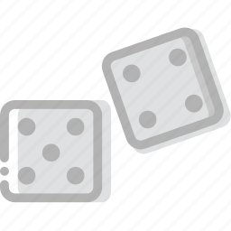 dices, fun, game, play icon