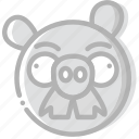 fun, game, pigstache, play icon