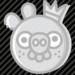 fun, game, king, pig, play icon