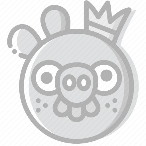 fun, game, king, pig, play icon