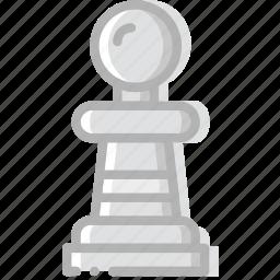 fun, game, pawn, play icon