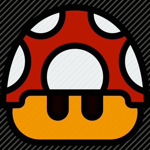fun, games, mario, mushroom, play icon