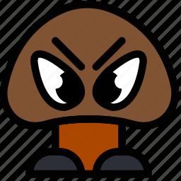 fun, games, goomba, play icon