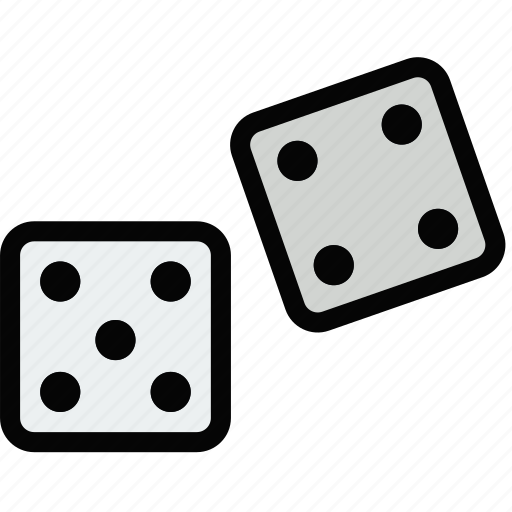 dices, fun, games, play icon