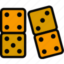 dominoes, fun, games, play icon