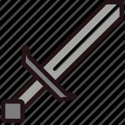 fun, games, minecraft, play, sword icon