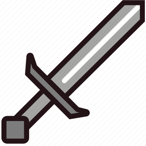 fun, games, minecraft, play, sword icon