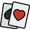 cards, fun, games, play icon