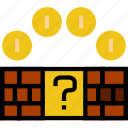 bricks, fun, games, mario, play icon
