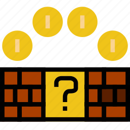 bricks, fun, games, mario, play icon