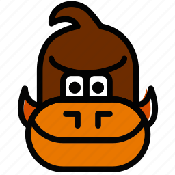 donkey, fun, games, kong, play icon