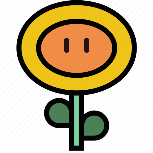 fireflower, fun, games, mario, play icon
