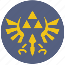 fun, games, play, triforce icon