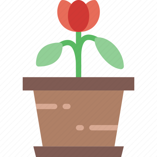 flower, garden, plant, soil, tulip icon