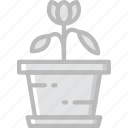 flower, garden, plant, soil, tulip icon