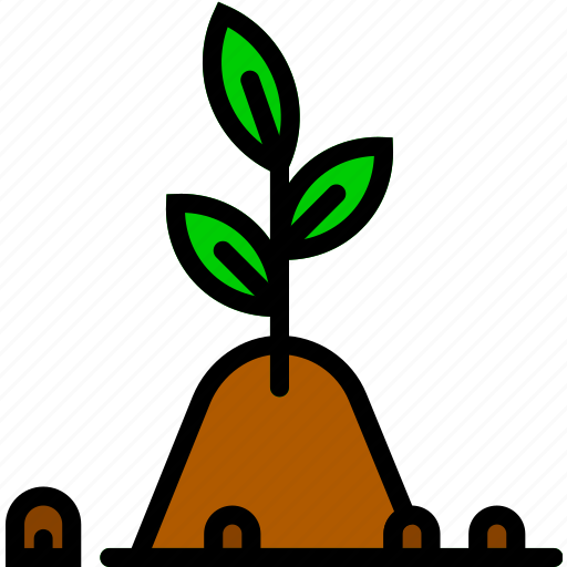 fertile, flower, garden, plant, soil icon