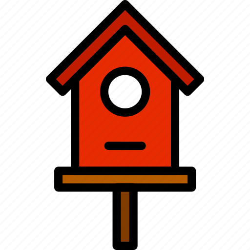 bird, flower, garden, house, plant, soil icon