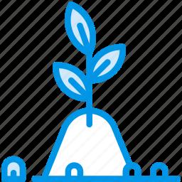 fertile, flower, garden, plant, soil icon
