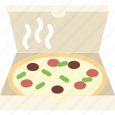 box, cook, eat, food, meal, pizza icon
