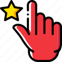 favorite, finger, gesture, hand, interaction icon