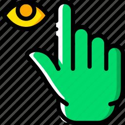 finger, gesture, hand, hide, interaction icon