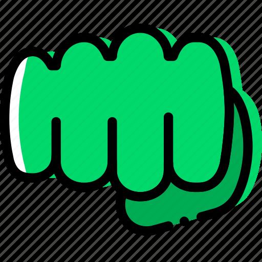 finger, fist, gesture, hand, interaction icon