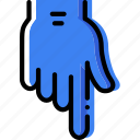 interaction, show, hand, down, finger, gesture icon