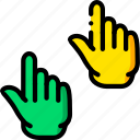 interaction, show, up, hand, finger, gesture icon