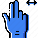 interaction, double, hand, slide, finger, gesture icon