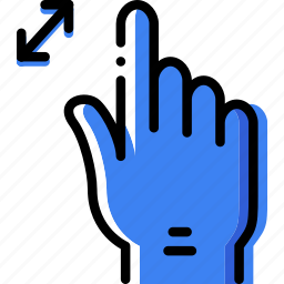 finger, gesture, hand, in, interaction, zoom icon