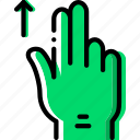 interaction, up, hand, slide, finger, gesture icon