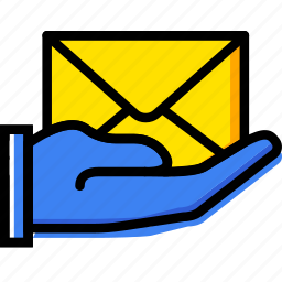 email, finger, gesture, give, hand, interaction icon