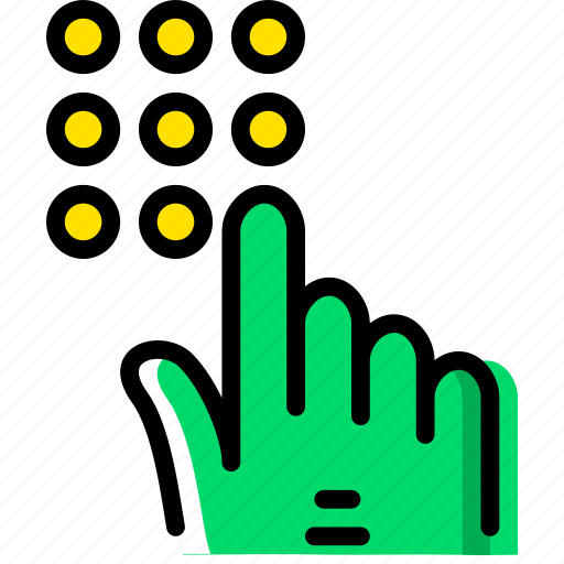 dial, finger, gesture, hand, interaction, number icon