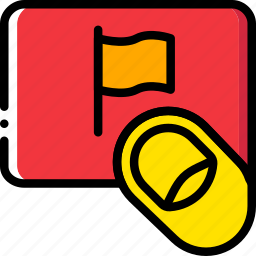 finger, flag, gesture, hand, interaction icon