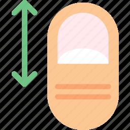 finger, gesture, hand, interaction, slide, vertically icon