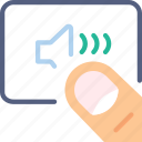 finger, gesture, hand, high, interaction, volume icon