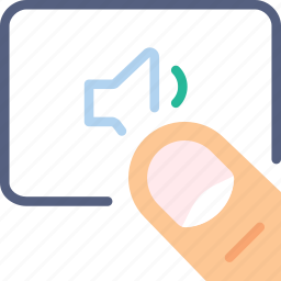 finger, gesture, hand, interaction, low, volume icon