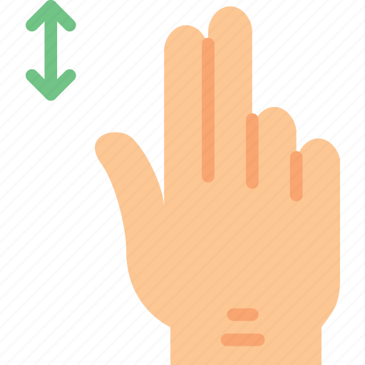 finger, gesture, hand, horizontally, interaction, slide icon